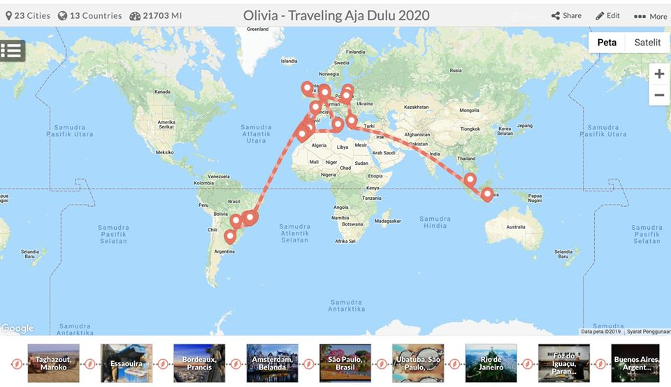 Rute Traveling Keliling Dunia 2020