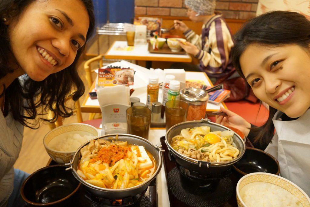 Makan masakan Jepang di Tokyo Des 2016