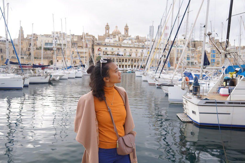 Pemandangan di Valetta, Malta