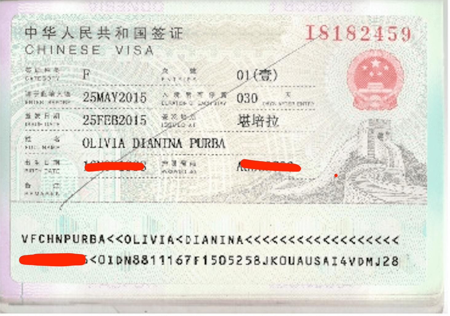 Pengalaman Membuat Visa China 2020