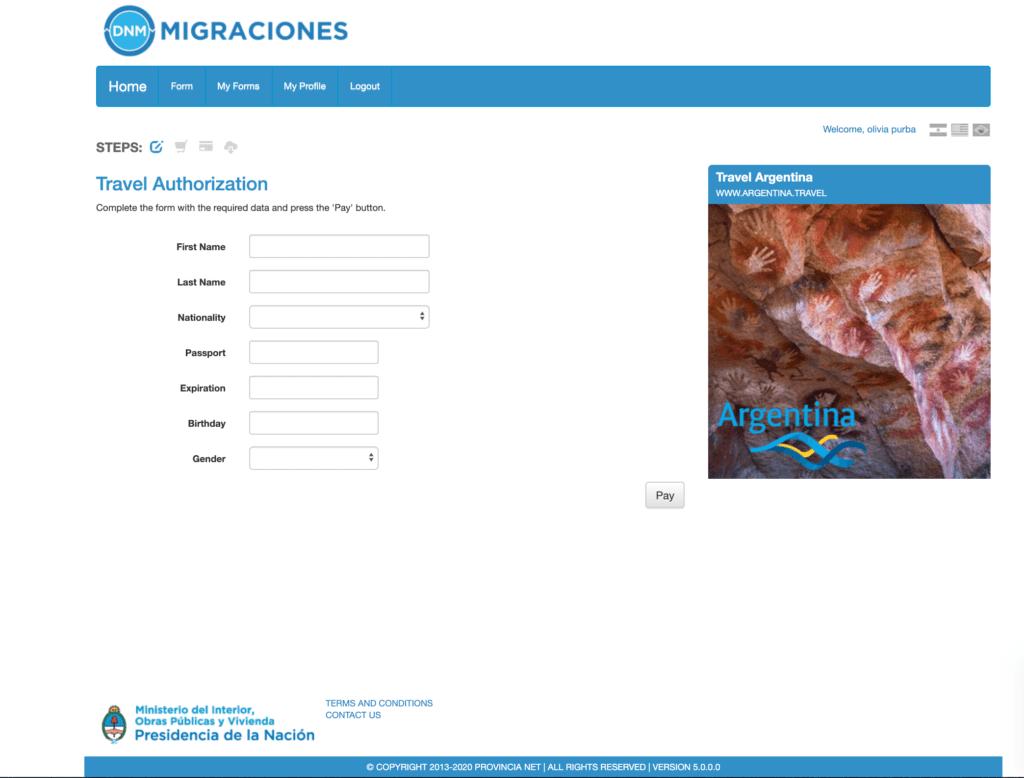 visa argentina 9