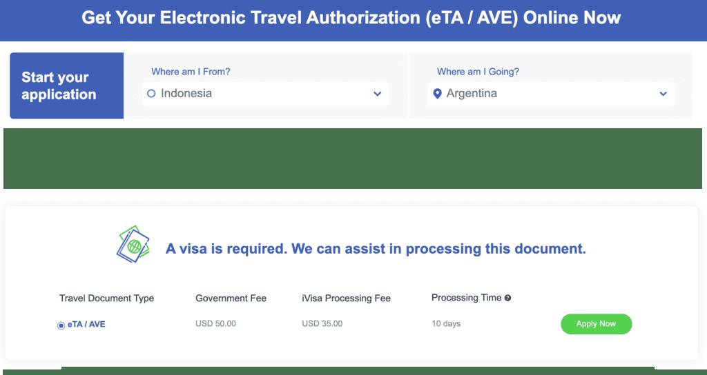 Visa Argentina Paspor Indonesia