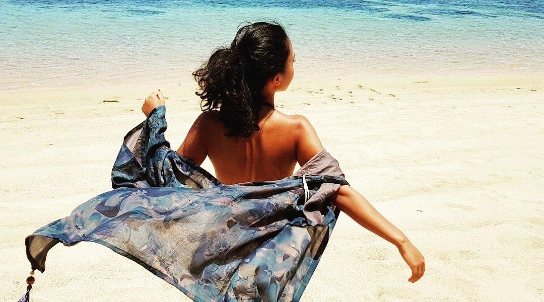 ootd pantai kimono