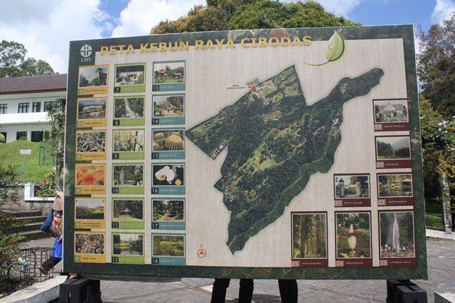 Peta Kebun Raya Cibodas